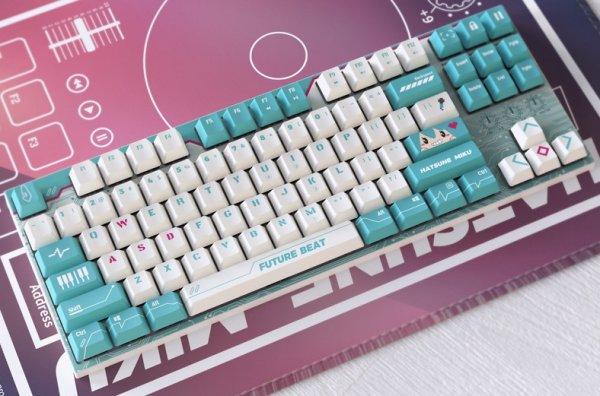 画像1: 初音ミク豆の素Ver.テンキーレスキーボードお得価格 (1)